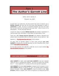 Part 1 The Author's Garrett Line - Garrett Family Genealogy