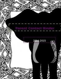 Elephant Parent Contact Binder Cover Free Printable My