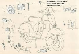 vespa part diagrams vespa px disc wiring diagram Vespa Px Disc Wiring Diagram indicators and battery p2