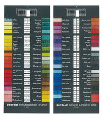 Lyra Rembrandt Polycolor Colour Chart 75 Correct Lyra Pencils Color Chart