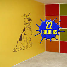 chocolate scooby doo wall decal in a playroom vinyl art sticker