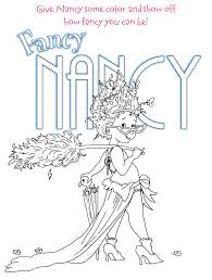 Small Picture Fancy Nancy Coloring Pages Fancy Nancy Coloring Page Free