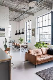Living Room: Industrial Living Room With Indoor Plants - Industrial Style
