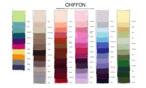 Jordan Fashions Size Chart Chiffon Bridesmaid Dresses Color Swatch Chiffon Colour