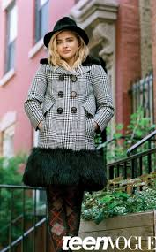 best images about inside teen vogue mag editor chloeuml grace moretz in a houndstooth coat for teen vogue the interview