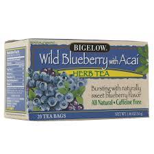 bigelow herb tea wild blueberry w acai0 07 oz x 20 pack