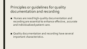 Nursing Charting Guidelines Documentation In Nursing