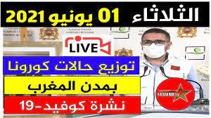 الحالة الوبائية في المغرب اليوم | بلاغ وزارة الصحة | عدد حالات فيروس كورونا  الثلاثاء 1 يونيو 2021 - Akhbar24News.com