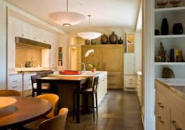 White Brown Colors Kitchen Breakfast. Gallery Of Large Kitchen Island  Design Combined With Vintage Cabinet Tree Solutions