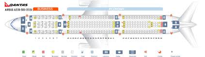 Seat Map Airbus A330 300 Qantas Airways Best Seats In The Plane