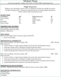 Aviation Mechanic Resume Objective Examples Airline Pilot Example