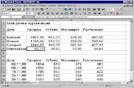 Курсовая работа на тему Создание базы данных в табличном  Курсовая работа на тему Создание базы данных в табличном редакторе ms excel