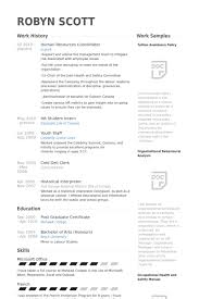 Human Resources Coordinator Resume samples