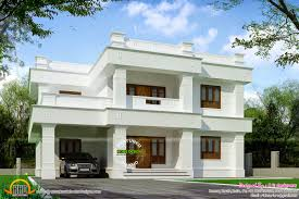 extraordinary contemporary flat roof design 3 square yards house kerala home floor plans 474464