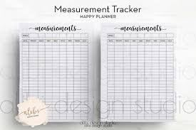 Happy Planner Measurement Tracker Fitness Planner Workout Planner Weight Loss Chart For Mambi Planner