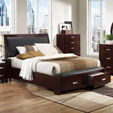 homelegance lyric  piece platform bedroom set in dark espresso