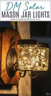 Diy Solar Lights In Mason Jars Solar Mason Jar Lights Rustic Interior Design Mason Jar