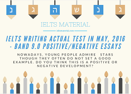 ielts writing actual test in band positive  com ielts writing task 2 essay of band 9 youth idols
