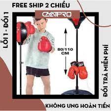 bộ đồ chơi đấm bốc cho bé, bộ đấm bốc boxing cho bé luyện tập phản xạ chính  hãng 216,000đ