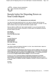 letter of despute top samples credit dispute letter free to download in pdf format