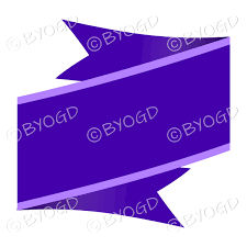 Purple Ribbon Banner Wide Purple Ribbon Banner Be Your Own Graphic Designer