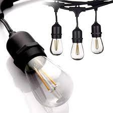 Solar Powered Retro Style String Light Bulbs Ip65 15m Led S14 String Lights Waterproof E27 Warm Led Retro