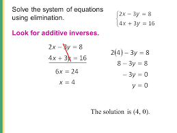 solve the system of equations using elimination