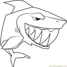 Small Picture Shark Animal Jam Coloring Page Free Animal Jam Coloring Pages