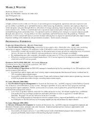 Hvac Resume Examples Resume Sample Profile Statement Copy Sample Profile Statements 93