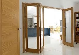 oak clear glazed internal bi fold doors