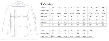 Mens Jacket Sizes Conversion Chart Clement Design Usa Size Chart