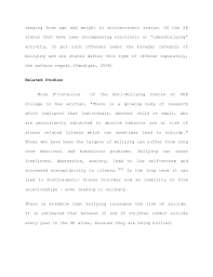 bullying thesis  the paper notes 17 ranging