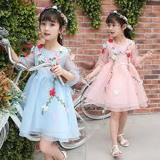 2019 <b>Beautiful Flower Fairy Girls</b> Princess Dress Kids Party ...