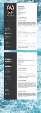 Instant Resume Templates Inspiration Professional Resume Template Resume Instant Download 48 Page Resume