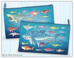 Shark Size Chart Shark Size Chart Etsy