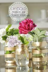 Mason Jars Decorated With Twine 100 Brilliant Mason Jar Vases You Should Make Today Gold mason 50