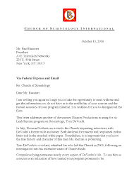 letter from csi to a e networks re tom devocht
