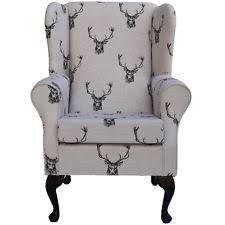 grey armchair uk ebay. small westoe wing back fireside armchair in a designer stag fabric grey uk ebay s