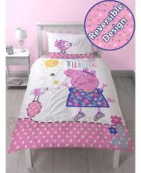 Peppa Pig Duvet Cover - Sweetgalas & Peppa Pig Happy Single Duvet Cover And Pillowcase Set Bedroom Adamdwight.com