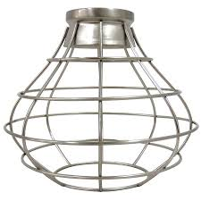 industrial cage lighting. Portfolio 8.38-in H W Brushed Nickel Industrial Cage Pendant Light Shade Lighting