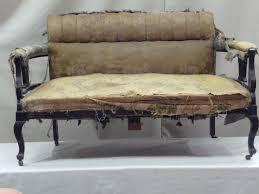 Old Sofa Old Fabric Victorian Style Sofa Upholstery With Black Wood Frame Ideas