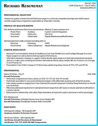 Cover Letter Technician Resume Sample Maintenance Technician