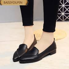 2018 new fashion sharp leisure low help shoes womens flat floor shallow white shoes foot commuter