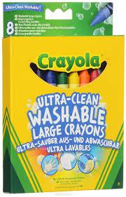 Crayola Набор <b>смываемых восковых мелков</b> Ultra-Clean ...