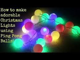 ping pong lighting. How To Make Christmas Lights Using Ping Pong Balls Lighting