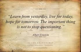 Inspirational Quotes For Today Cool AL Inspiring Quote On Questions Alame Leadership Inspiration