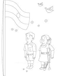 Coloring Pages Flag Of Page Independence Day N National India Map