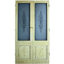 reclaimed glass doors pair of reclaimed pine double doors with etched glass reclaimed glass door knobs