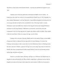 sample essay on othello  4