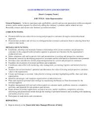 Sales Rep Job Description Sample 65 Images 134 Best Best Resume